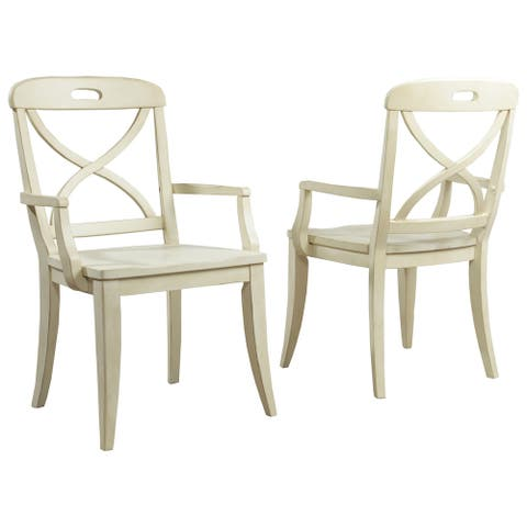 Millbrook X-Back Arm Chair by Panama Jack (Set of 2)