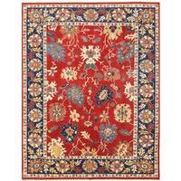 Herat Oriental Afghan Hand-knotted Vegetable Dye Oushak Wool Rug (8'11 x 11'5)