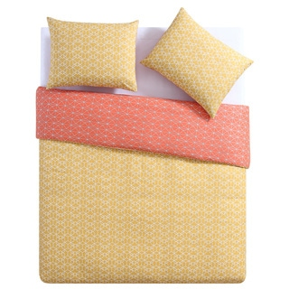 Clairebella Geometric Reversible 100% Cotton 3-piece Duvet Set