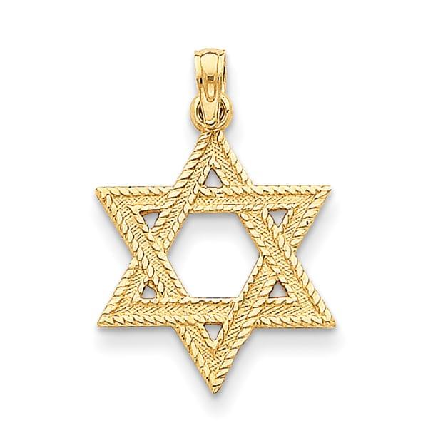 Shop 14k yellow gold star of david pendant free shipping today 14k yellow gold star of david pendant aloadofball Image collections