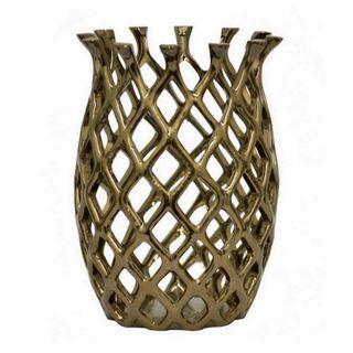 Three Hands Bronze Ceramic 12-Inch Hurricane