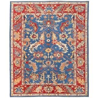 Herat Oriental Afghan Hand-knotted Vegetable Dye Oushak Wool Rug (8'10 x 10'11)