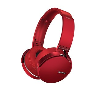 Sony Extra Bass Bluetooth Headphones with App Control, Red (2017 model)