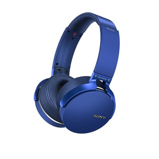 Sony Extra Bass Bluetooth Headphones with App Control, Blue (2017 model)