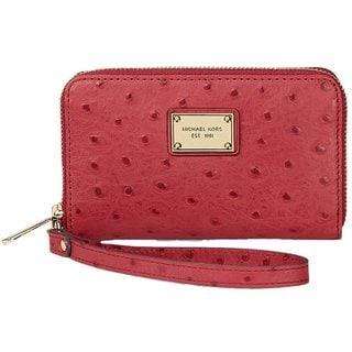 Michael Kors iPhone 5/5s/SE Essential Zip Wallet - Red