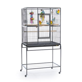 Prevue Pet Products Wrought Iron Flight Cage With Stand (Option: Black)