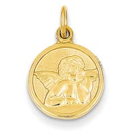 Versil 14k Polished Angel Charm with 18-inch Chain