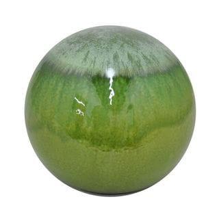 Benzara Green Ceramic 10-inch Drip Orb