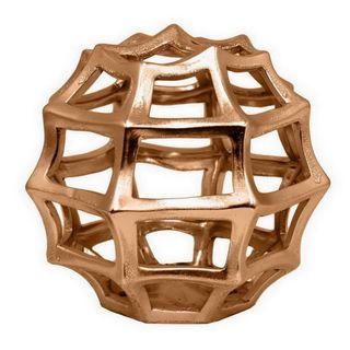 Benzara Copper Ceramic 8.5-inch Orb