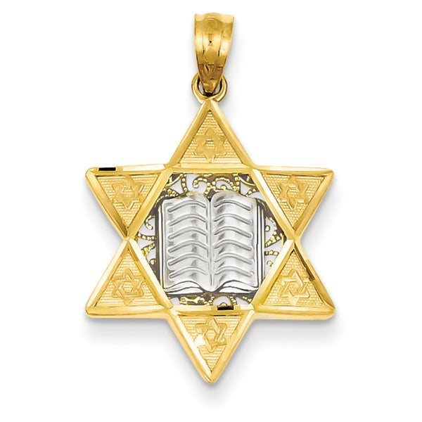 Shop 14k two tone gold star of david pendant on sale free 14k two tone gold star of david pendant aloadofball Image collections