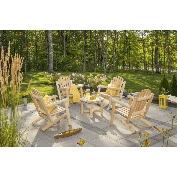 Shop Bestar White Cedar Chairs And Coffee Table Set Free - Coffee table with 4 chairs