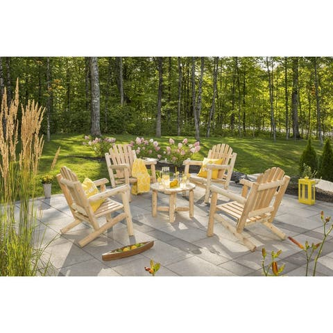 Bestar White Cedar 4 Chairs and Coffee Table Set