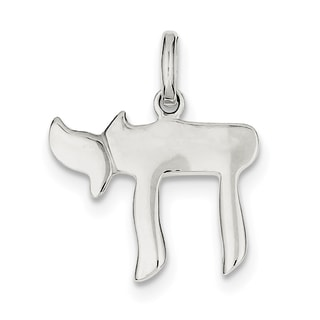 Sterling Silver Chai Life Charm with 18-inch Chain