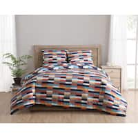 Clairebella Geometric Reversible 3-piece Comforter Set