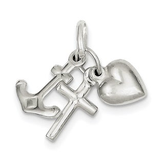 Sterling Silver Faith, Hope and Charity Charm