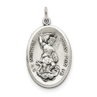 Sterling Silver St. Michael Medal with 18-inch Chain