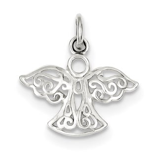 Sterling Silver Filigree Angel Charm with 18-inch Chain