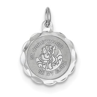 Sterling Silver St. Christopher Medal Charm with 18-inch Chain