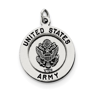 Sterling Silver Antiqued Saint Michael Army Medal With 18 Inch Chain By Versil