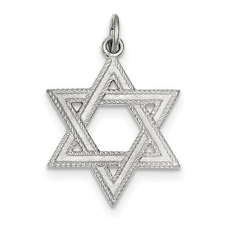 Sterling Silver Star of David Charm with chain