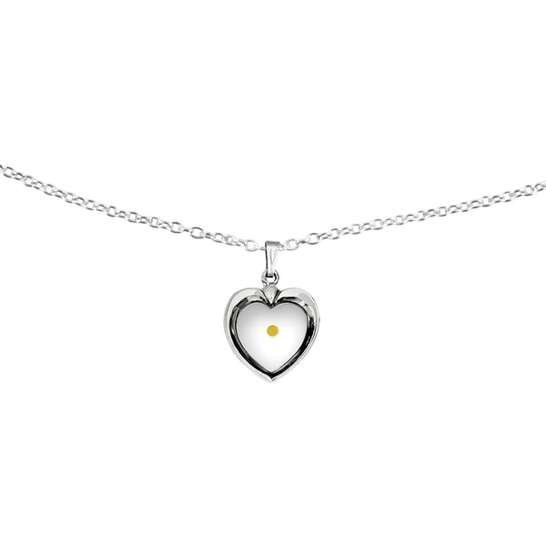 Sterling silver large heart with mustard seed pendant w18 inch sterling silver large heart with mustard seed pendant w18 inch chain aloadofball Choice Image