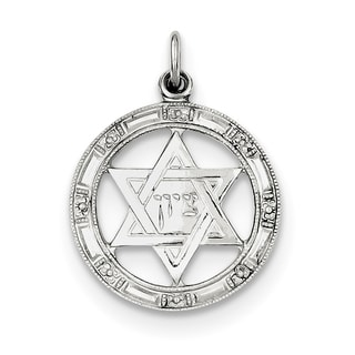 Sterling Silver Star of David Disc Charm by Versil