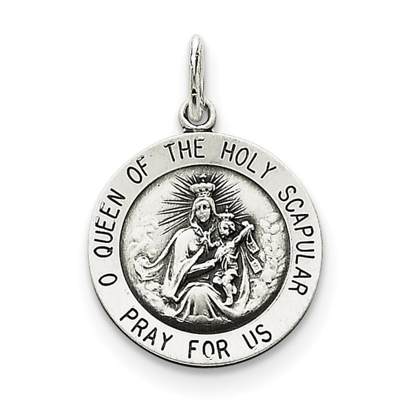 925 Sterling Silver Queen of the Holy Scapular Medal
