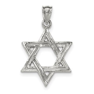 Sterling Silver Polished Star of David Pendant with 18-inch chain