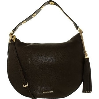 Michael Kors Brooklyn Coffee Leather Large Convertible Hobo Handbag