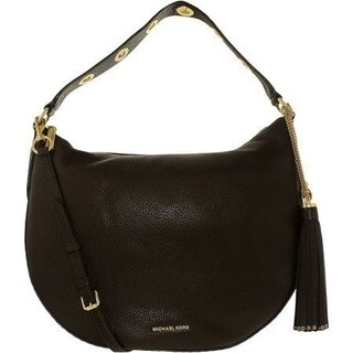 Michael Kors Brooklyn Coffee Leather Large Convertible Hobo Handbag