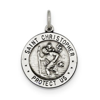 Versil Sterling Silver St. Christopher Football Medal