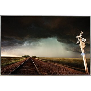 Storm Tracks Silvertoned Metal Frame 36 x 24-inch Poster