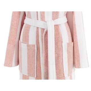 AZK Authentic Turkish Cotton Unisex Stripe Hooded Bathrobe