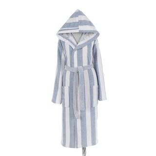 AZK Authentic Turkish Cotton Unisex Stripe Hooded Bathrobe (3 options available)