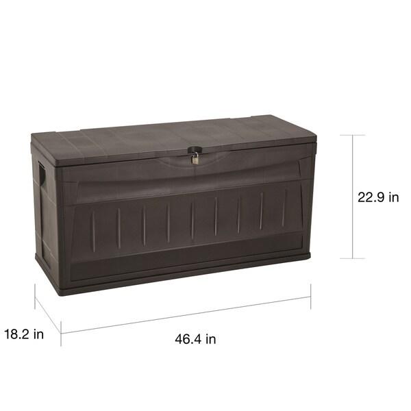 Rimax Brown Plastic Storage Deck Box