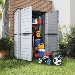 Rimax Grey/Black Tall Garden Storage Shed