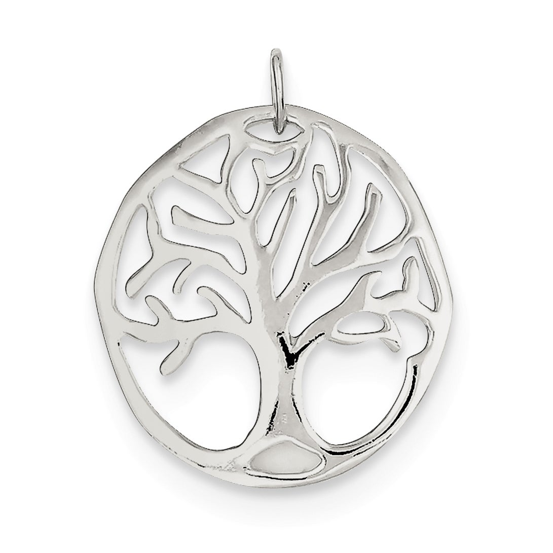 Sterling Silver Tree Of Life Charm with 18 inch Cable Cha...