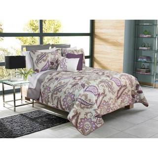 Katy Violet Printed Paisley Quit and Sham Set