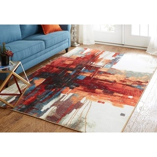 Mohawk Home New Wave Crossed Collage Area Rug (6' x 9')