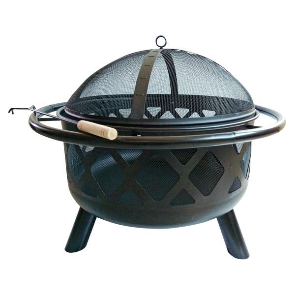 Shop Peaktop Steel Wood 30-inch Round Outdoor Burning Fire ...