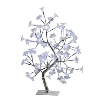 Simple Designs White Morning Glory LED Lighted Decorative Tree|https://ak1.ostkcdn.com/images/products/14680004/P21214122.jpg?impolicy=medium