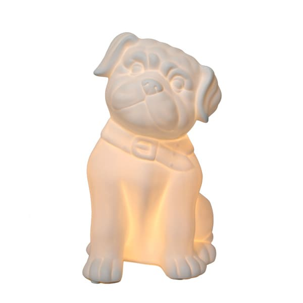 Simple Designs Porcelain Puppy Dog Shaped Table Lamp