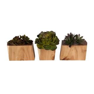 Kate and Laurel Jakara Natural Wood Block 3-piece Planter Set|https://ak1.ostkcdn.com/images/products/14680011/P21214103.jpg?_ostk_perf_=percv&impolicy=medium