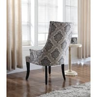 Best Master Furniture Natural with Floral Fabric Accent Chair