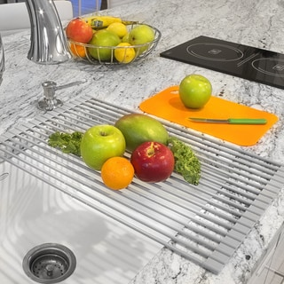 Link to Warm Grey Roll-up Dish Drying Rack Similar Items in Sinks