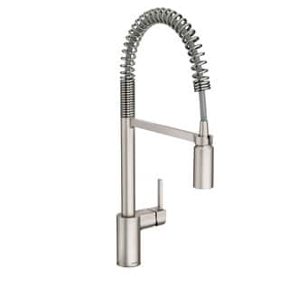 Moen Align Pullout Single-Hole Kitchen Faucet 5923SRS Stainless Steel|https://ak1.ostkcdn.com/images/products/14680075/P21214180.jpg?impolicy=medium