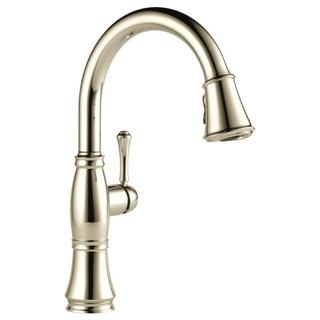 Delta Cassidy Polished-nickel Pullout Spray Single-hole Kitchen Faucet