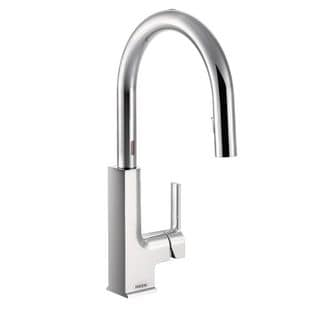 Moen Sto Chrome Pullout Spray Electronic Single-hole Kitchen Faucet
