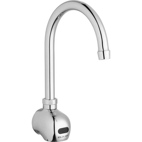 Elkay Commercial Electronic Sensor Scrub/Handwash Battery Powered Wall Mount Faucet Chrome