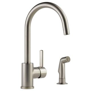 Peerless Stainless-steel Single-handle Kitchen Faucet and Spray